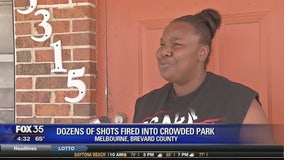 Dozens of shots fired into crowded park