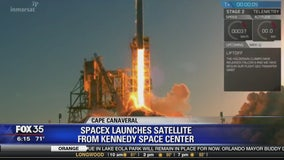 SpaceX launches satellite from Kennedy Space Center