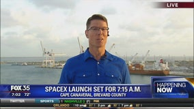 SpaceX launch set for 7:15 a.m.