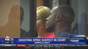 Shooting spree suspect in court