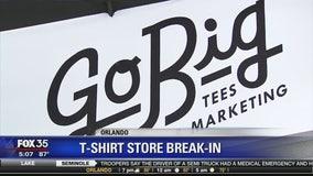 T-shirt store break-in