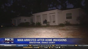 Man arrested after home invasions