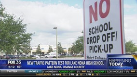New traffic pattern test for Lake Nona High School