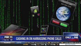 Cashing in on harassing phone calls
