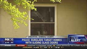Burgalars target homes with sliding glass doors in longwood