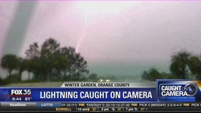 Lightning caught on camera