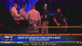 Night of gunshots ends with a body