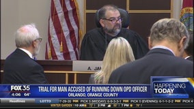 Trial for man accused of running down OPD officer