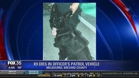 K9 dies in officer's patrol vehicle