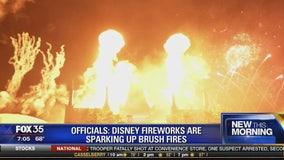 Disney fireworks are sparking up brush fires