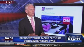 President Trump facing criticism over controversial tweet