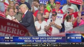 "President Trump says government needs a ""good shutdown"""