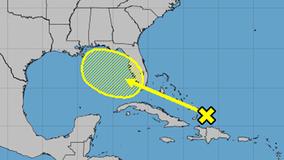 Disturbance in the Atlantic expected to bring heavy rainfall to Bahamas, Florida