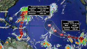 Tropical Storm Lorenzo forms as Karen continues to move towards Puerto Rico