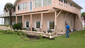 House deck collapses in Flagler Beach during Dorian