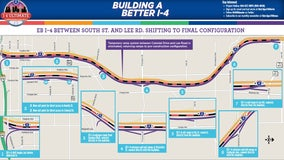Permanent lane shift brings major changes to I-4 in downtown Orlando