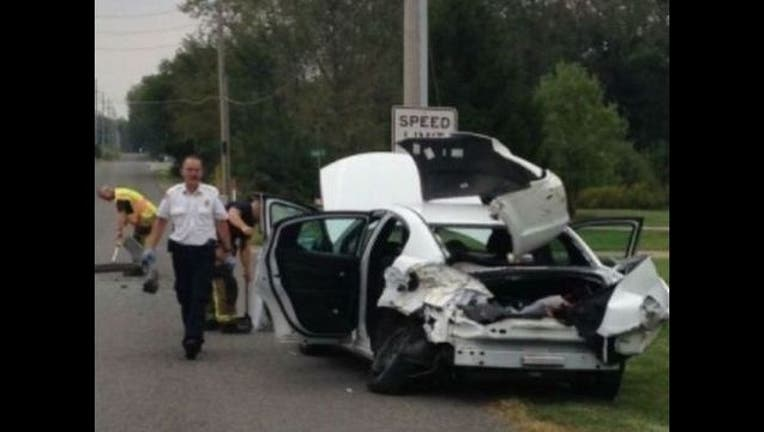 4b9d1f40-Woman jumps from car after seeing spider-407068
