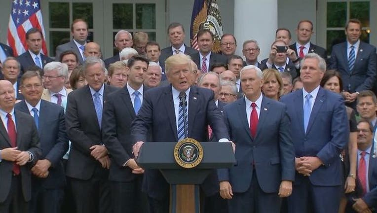 Trump and GOP leaders in Rose Garden health care bill-401720