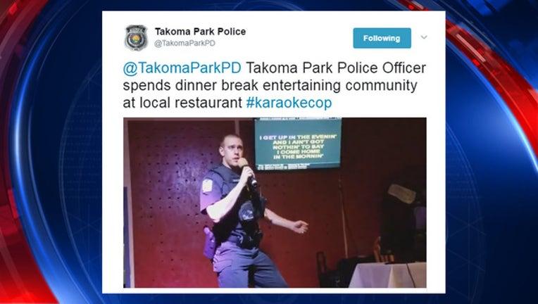 97bac222-Takoma Park cop does karaoke-401720