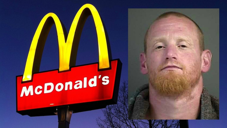 Jedediah Ezekiel Fulton is accused of damaging McDonald's golden arches-404023