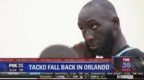 Tacko Fall back in Orlando representing Boston Celtics