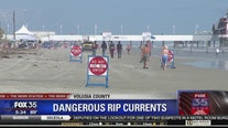 Dangerous rip currents in Volusia County
