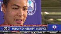 Toni Pressley back to soccer after battling breast cancer