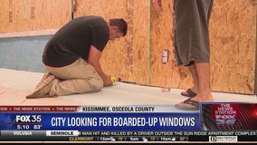 Kissimmee says take down hurricane shutters and boards