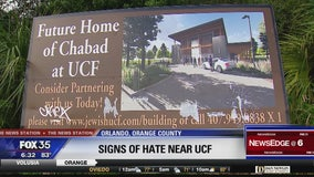 Sign of Jewish organization at UCF vandalized with anti-Semitic symbol