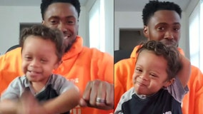 Adorable toddler dances with dad to celebrate 11 months cancer free
