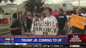 Protesters plan for Donald Trump Jr speech at UF