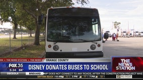 Disney donated 2 buses to Orange Technical College