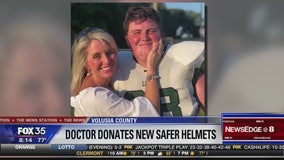 Mom donates helmets to football team to tackle concussions