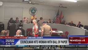 Malabar councilman throws paper-ball at woman