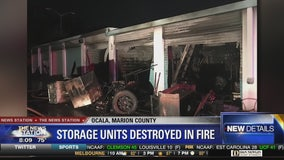 Storage units destroyed in fire