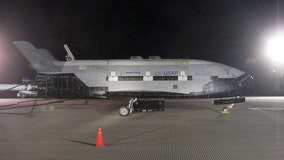 Air Force's mystery space plane lands at Kennedy Space Center, ends 2-year mission