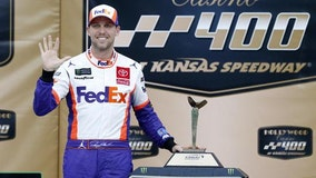 Hamlin wins chaotic NASCAR cut-off race at Kansas Speedway