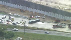 9 hospitalized after Lynx bus overturned on I-4