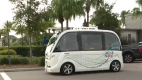 Central Florida's first autonomous buses begin routes in Lake Nona