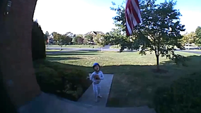 Boy caught on family's doorbell camera adorably reciting the Pledge of Allegiance