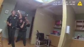 Burglary suspect caught climbing through ceiling