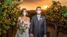 The backstory of the viral California wildfire wedding photo