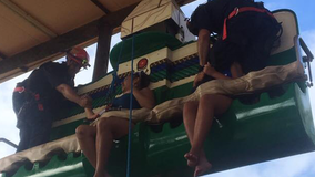 Florida firefighters rescue women stuck on Legoland ride