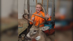 Minnesota girl bags 12-point buck first time hunting
