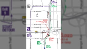 FDOT: Portion of I-4 in Downtown Orlando to close overnight to accommodate traffic shift