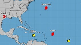 Five systems being monitored as Hurricane Jerry forms in the Atlantic