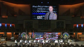 Thousands gather for funeral of Florida Highway Patrol trooper killed in crash