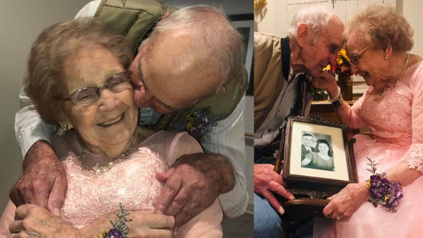 'Love and commitment': Husband overjoyed at sight of wife dressed up for 72nd wedding anniversary