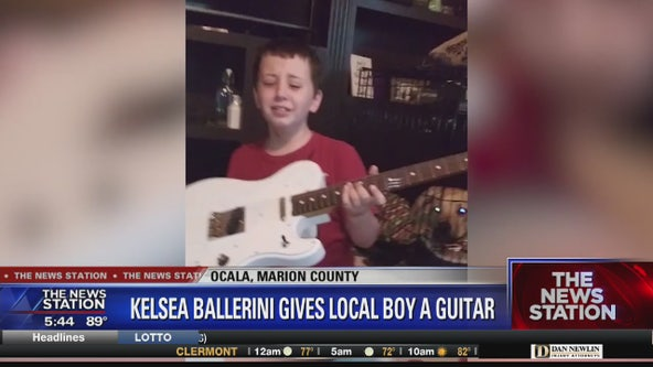 Kelsea Ballerini gives Florida boy battling brain cancer guitar