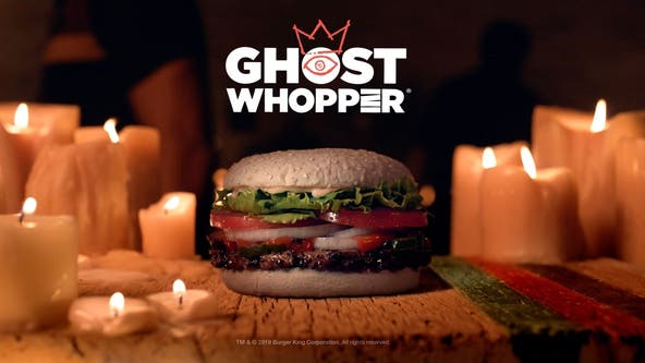 Burger King debuts 'Ghost Whopper' with white, cheddar-infused buns